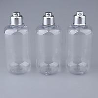 3Pcs 300ml Empty Clear Plastic Bottles Tubes Flip Cap Makeup Containers for Shampoo Lotions Toners