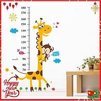 Miếng dán sticker Cleverbees đo chiều cho bé cao từ 60 cm tới 180 cm dán tường trang trí hình hoạt hình ngộ nghĩnh dễ dán Mẫu Clickmua23- Nhiều mẫu lựa chọn