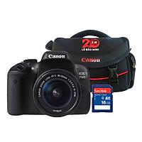 Máy Ảnh Canon 750D + Lens 18-55 IS STM - Hàng Chính Hãng - Tặng Kèm Thẻ Nhớ Và Túi Đựng Máy Ảnh