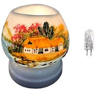 Combo Đèn xông tinh dầu điện tam giác TG13 và 1 bóng đèn