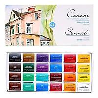 màu nước nén sonnet set 24m hộp giấy