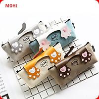 Túi/hộp đựng bút bằng vải hình chân mèo MOHI - Chính Hãng (Giao màu ngẫu nhiên)