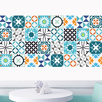 Decal gạch bông dán bếp, dán tường, trang trí làm đẹp tân trang nhà cửa đời sống, nội thất văn phòng, quầy quán bar - mã HV31