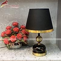 Đèn Ngủ Để Bàn - Đèn Bàn Phòng Ngủ Thân Hợp Kim Sơn Tĩnh Điện, Chao Vải Đen Cao Cấp MB6403