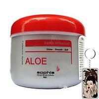 Kem ủ tóc siêu thảo dược Sophia Platinum Aloe Herb Treatment New Hàn Quốc 500ml tặng kèm móc khoá
