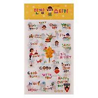 Bộ 6 Tấm Sticker Trang Trí - Hàn Quốc