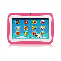 Q768 7 inch Kids Tablet Educational Learning Computer 1024x600 Resolution WiFi Connection with Silicone Case Green US