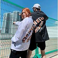 Áo khoác dù in hình BASED 123SHOP dành cho cặp đôi nam nữ 2 màu trắng đen, jacket form rộng phong cách unisex ulzzang