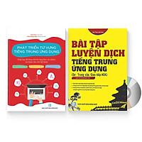 Sách- Combo 2 sách Bài tập luyện dịch tiếng Trung ứng dụng (Sơ -Trung cấp, Giao tiếp HSK có mp3 nghe, có đáp án) +Phát triển từ vựng tiếng Trung Ứng dụng (Có Audio nghe) + DVD tài liệu