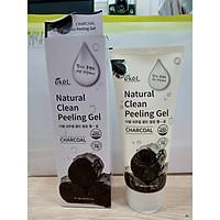 Gel Tẩy Tế bào Chết Than - Ekel Natural Clean Peeling Gel Charcoal 180ml (Tặng 2 mặt nạ Jant Blanc)
