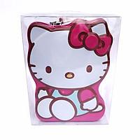 Hộp Tiết Kiệm Tiền Hello Kitty Hồng Có Khóa - Két Sắt Mini Kích Thước 16x12x8cm