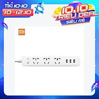 Xiaomi Mi Smart Power Socket Portable Strip Plug Adapter Fast Charging 3 USB Extension Socket Plug 3 Standard Socket - White