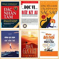 Combo 6 Cuốn Nên Có Trong Tủ Sách Tri Thức Của Bạn: Nhà Giả Kim + Đắc Nhân Tâm + Đọc Vị Bất Kỳ Ai + Khéo Ăn Nói Sẽ Có Được Thiên Hạ + Đừng Lựa Chọn An Nhàn Khi Còn Trẻ + Lòng Tốt Của Bạn Cần Thêm Đôi Phần Sắc Sảo/ BooksetMK (Kỹ Năng Tư Duy Đời Sống)