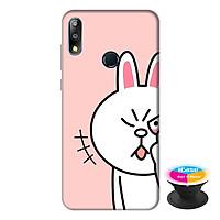 Ốp lưng cho điện thoại Asus Zenfone Max Pro M2 hình Thỏ Trắng làm Duyên tặng kèm giá đỡ điện thoại iCase xinh xắn - Hàng chính hãng
