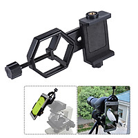 Metal Telescope Mount Adapter Bracket with Adjuatable Smartphone Cell Phone Holder Clip for Binocular Monocular Spotting