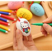 Trứng tô màu phát triển kỹ năng cho bé - Kèm 4 bút dạ