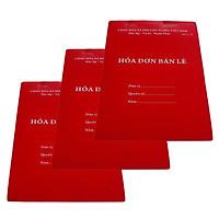 Combo 3 quyển Hóa đơn bán lẻ 100 tờ + Tặng bút bi nến nét đẹp siêu trơn