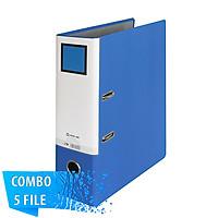 Combo 5 File đựng tài liệu A4-S 5cm - KING JIM 2693GSV còng bật cao cấp