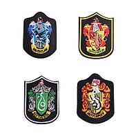 Bộ 4 sticker ủi áo huy hiệu Harry Potter