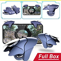 Bộ 2 nút bấm chơi game Pubg Mobile Blue Shark CH5 hỗ trợ chơi game trên điện thoại