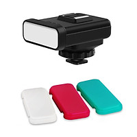 ORDRO SL-20 Compact Size On-Camera LED Video Light 20pcs LEDs with White/Red/Green Color Filters Built-in Lithium