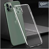 Ốp cho iPhone 12 Pro Max, 12 Pro, 12, 12 Mini - Silicon hãng Gor có gờ bảo vệ camera Hàng nhập khẩu