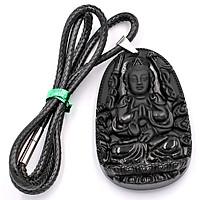 Dây Chuyền Mặt Phật - Thiên Thủ Thiên Nhãn - Thạch Anh Đen 6cm DETES8 - Tuổi Tý