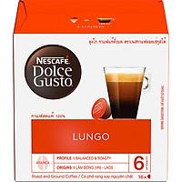 Hộp 16 Viên Nén Cà Phê Rang Xay Nescafe Dolce Gusto - Lungo 112g - Hàng Chính Hãng