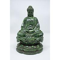 Tượng Phật Bà ngồi bằng đá xanh