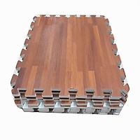 Combo 9 tấm thảm xốp ghép sàn màu vân gỗ kích thước 1 tấm 40cm x 40cm x0,9cm