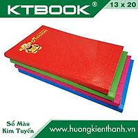 Gói 10 cuốn Sổ Bìa cứng Màu Kim Tuyến Thần Tài 160 trang kích thước 13 x 20 cm (10 cuốn/gói)