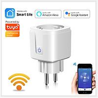 Ổ Cắm Wifi Điều Khiển Từ Xa 15A  dùng phần mềm TUYA ,SMART LIFE công tắc điều khiển từ xa wifi