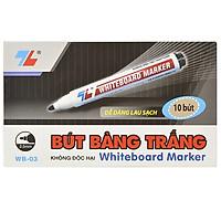 Hộp 10 Bút Lông Bảng Thiên Long WB03 - Mực Đen