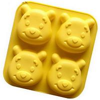 Khuôn Silicon 4 gấu Pooh