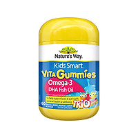 Kẹo nhai bổ sung vitamin Australia NATURE'S WAY KIDS SMART VITA GUMMIES OMEGA-3 FISH OIL 60S