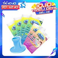 Combo 4 Gói miếng rửa chén linh hoạt iHomeda + 2 Gói miếng chùi nồi iHomeda TẶNG tay cầm tiện dụng