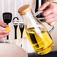 Bình để dầu ăn và các vật dụng nhà bếp thủy tinh