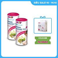 Combo 2 Trà cốm lợi sữa hoà tan HiPP Mama Herbal Nursing Tea 100% thảo mộc, dành cho mẹ sau sinh và đang cho con bú giúp bồi bổ cơ thể, hỗ trợ và tăng cường lượng sữa (2 hộp x 200g)