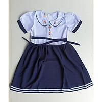 Đầm học sinh cho bé gái 6( Eo 68cm, Dài váy 70cm)