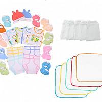 Set 47 món đồ cho bé sơ sinh từ 0 đến 6 tháng tuổi( quần dai)