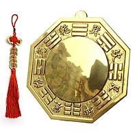 Gương bát quái phong thủy bằng đồng vàng cao cấp