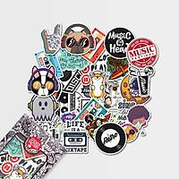 Music - Set 30 sticker hình dán
