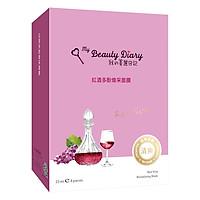 Mặt Nạ Rượu Vang Đỏ My Beauty Diary Red Vine Revitalizing Mask (8 Miếng / Hộp)