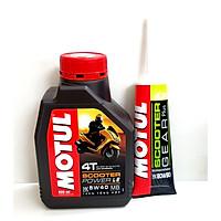 Combo nhớt xe tay ga Motul Power Le 800ml + nhớt hộp số Motul Gear oil 120ml