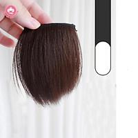Tóc giả kẹp phồng chân tóc CAO CẤP, độn phồng chân tóc ngắn 10 – 15cm, 2 kẹp bấm giá rẻ, giá 1 bên tóc