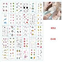 Set 30 Tấm Hình Xăm Mini, Hình Tatoo Xăm Nước Đa Dạng Mẫu HX1