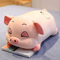 Gấu bông Heo Heo mắt híp 50cm - Lợn bông ngủ cute êm ái, mềm mại