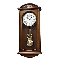 Đồng hồ treo tường RHYTHM SIP (Sound In Place) Wall Clocks CMJ574NR06 (Kích thước 25.5 x 58.6 x 11.5cm), Vỏ màu Nâu