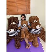 Gấu Bông Teddy 0,95m-1m1-1m3 Gấu Bông To, Gối Ôm Hình Thú Teddy Nâu Bự Khổng Lồ Siêu Đáng Yêu - MH06