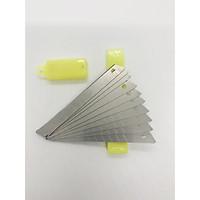Hộp 10 lưỡi dao văn phòng phẩm thay thế tiện dụng 9cm*1cm